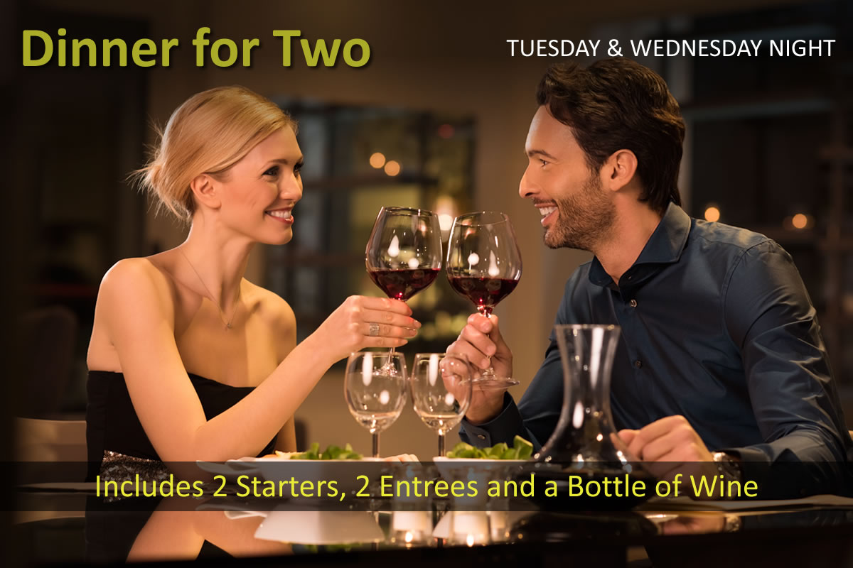 Dinner for Two, November 12 & 13 | Siena Bistro | San Jose, CA 95125